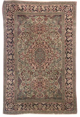 AN ISFAHAN RUG, CENTRAL PERSIA