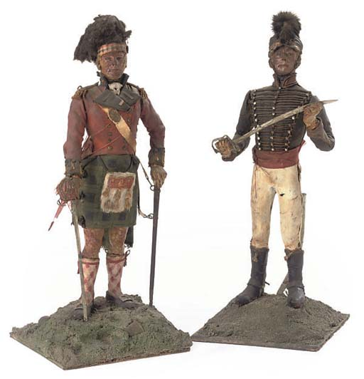 A MODEL OF AN HUSSAR AND A SCO