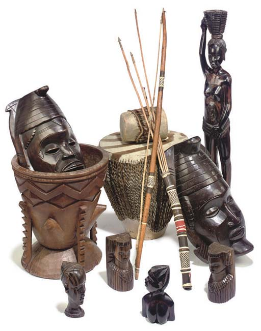 A COLLECTION OF AFRICAN ARTIFA
