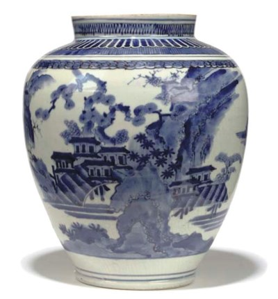 A JAPANESE BLUE AND WHITE BALU