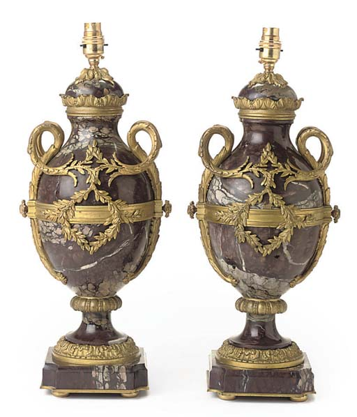 A PAIR OF FRENCH GILT-METAL MO