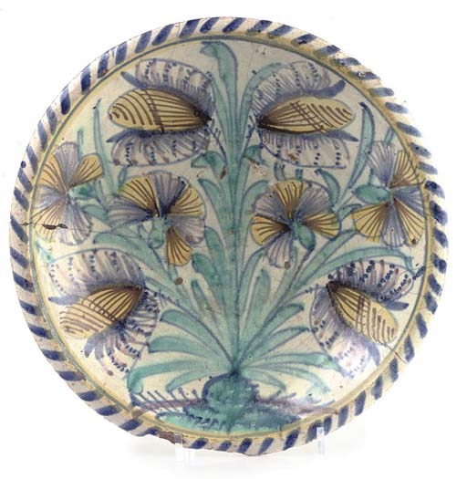 AN ENGLISH DELFT TULIP CHARGER