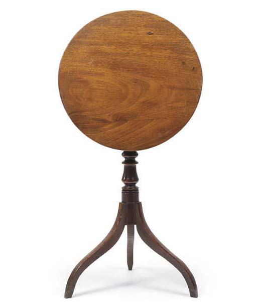 A LATE REGENCY MAHOGANY TRIPOD TABLE