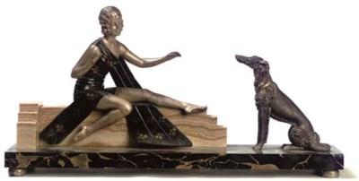 A French Art Deco portor marbl