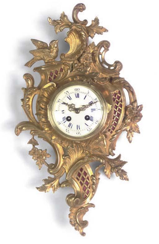 A French gilt-metal striking e