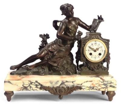 A French bronze and breccia ma