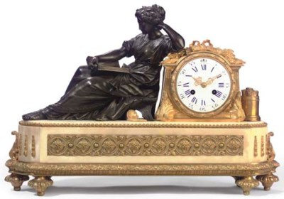 A Napoleon III ormolu and whit