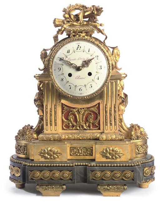 A Louis XVI ormolu and grey ma