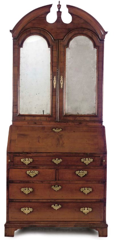 A FRUITWOOD AND INLAID BUREAU