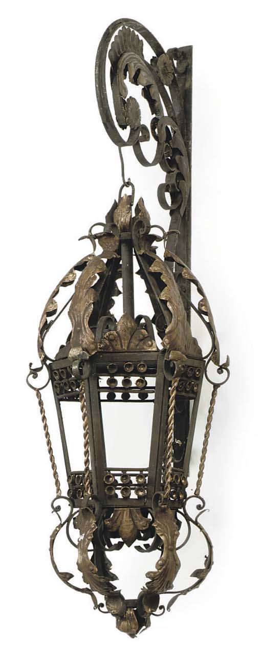 A PAIR OF VENETIAN WROUGHT IRO