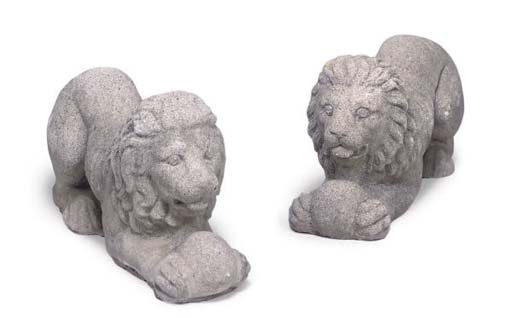 A PAIR OF RECONSTITUTED STONE