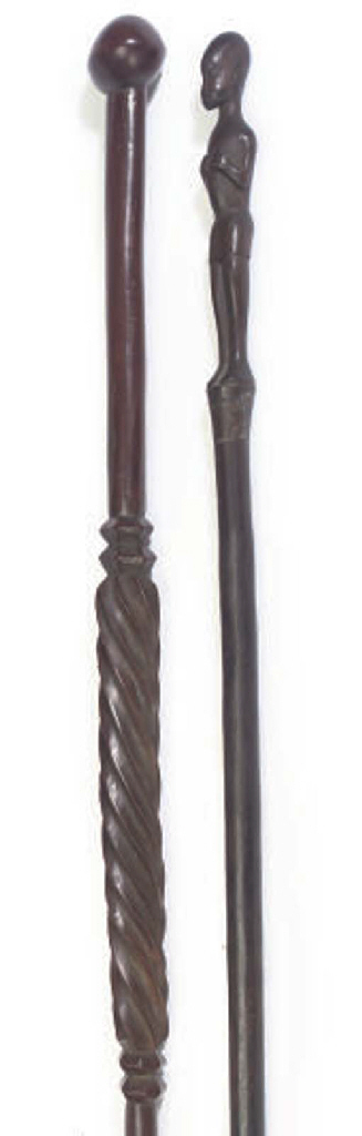 A NORTH AFRICAN HARDWOOD STAFF