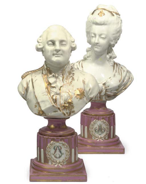 A PAIR OF OF SEVRES STYLE PORC