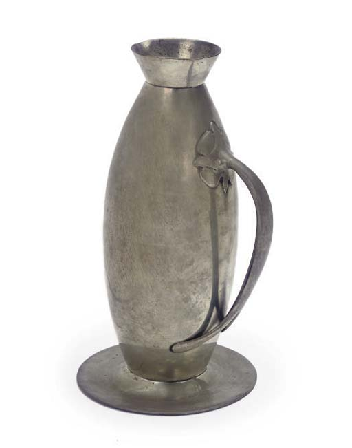 AN PEWTER EWER