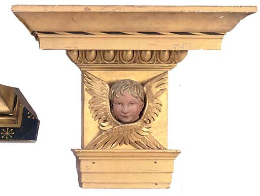 A PAIR OF GILTWOOD AND POLYCHR