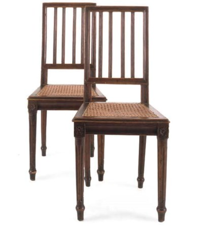A PAIR OF FRENCH FRUITWOOD SID