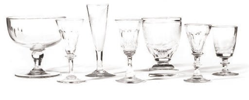A GROUP OF DRINKING GLASSES