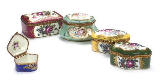 A GROUP OF FIVE FRENCH GILT-ME