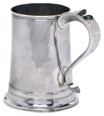 A GEORGE III SILVER ONE PINT M