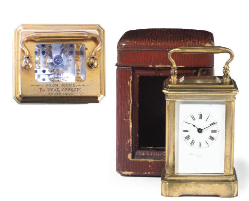 KING GEORGE V'S CARRIAGE CLOCK