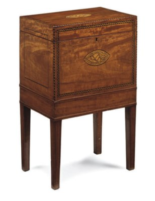 A LATE VICTORIAN SATINWOOD SEW