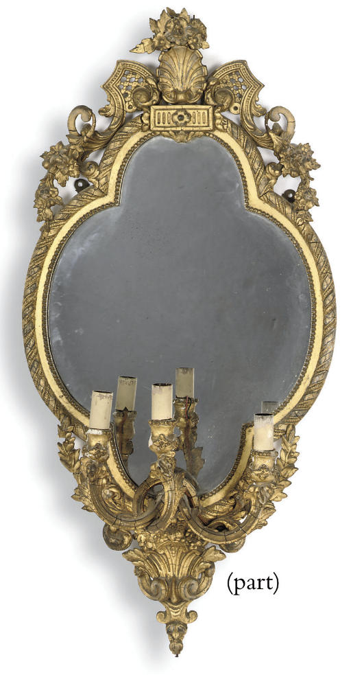 A PAIR OF VICTORIAN GILT-COMPO