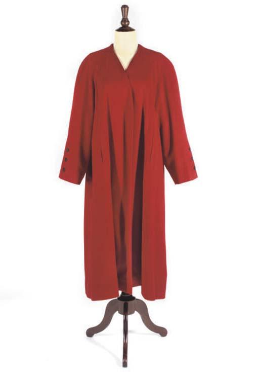 HERMÈS, A RED CASHMERE COAT