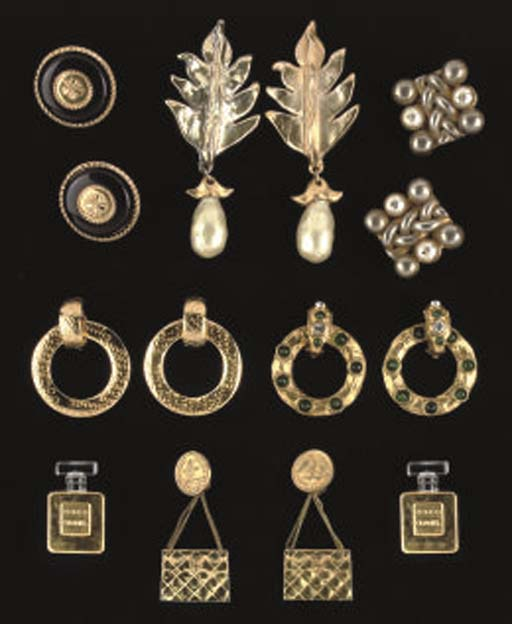 CHANEL, A COLLECTION OF EARRIN