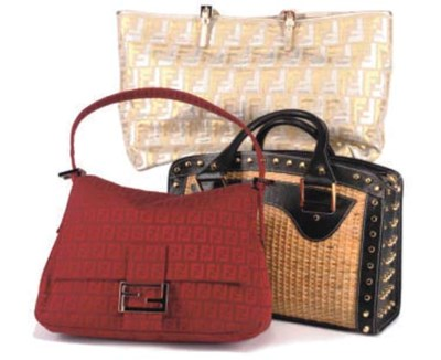 FENDI, THREE HANDBAGS