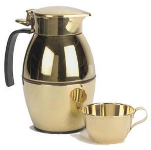 HERMÈS, A GILT CARAFE AND CUP