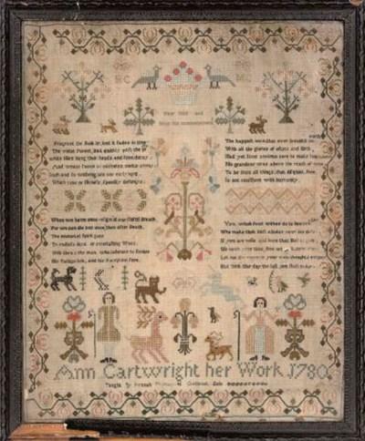A SAMPLER BY ANN CARTWRIGHT, D