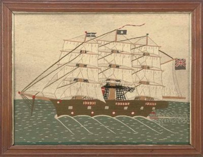 A SAILORWORK WOOLWORK PICTURE