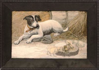 AN EMBROIDERED PICTURE OF DOG