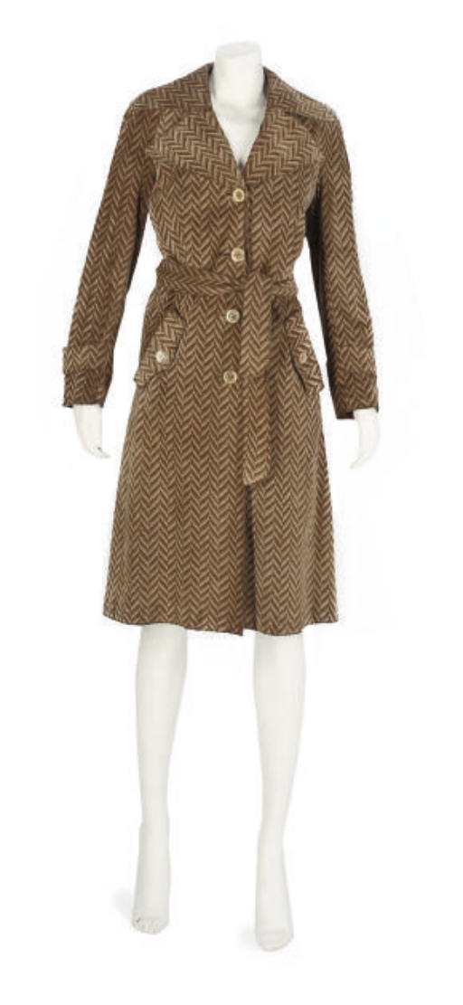 LOEWE, A PRINTED SUEDE TRENCH