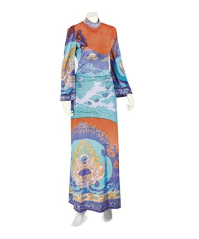 LEONARD, A MAXI DRESS AND BLOU