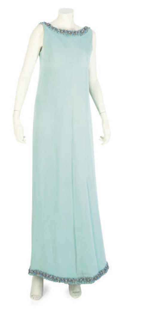 PATOU COUTURE, A TURQUOISE EVE