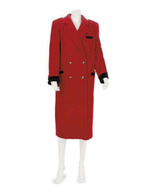 VALENTINO, A RED WOOL MILITARY