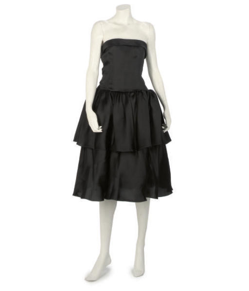 OSCAR DE LA RENTA, A LITTLE BLACK COCKTAIL DRESS
