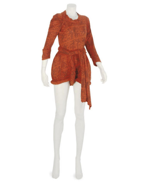 VIVIENNE WESTWOOD, A PRINT TOGA DRESS, CIRCA 1982
