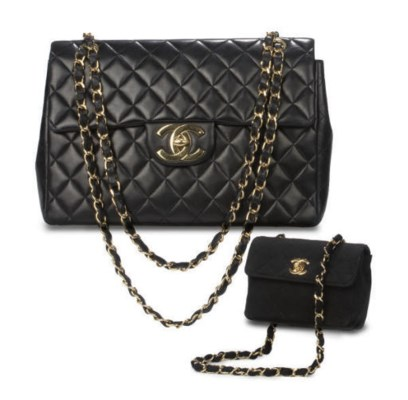 CHANEL, TWO QUILTED HANDBAGS