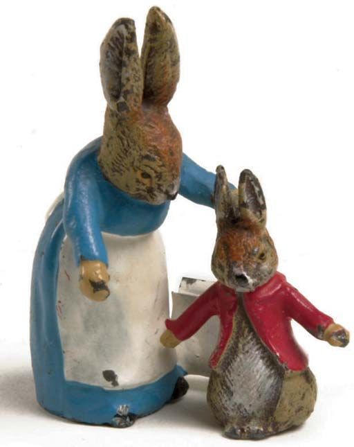 A rare Heyde Peter Rabbit and Mother