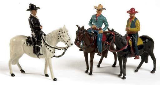 Timpo Hopalong Cassidy Mounted Set