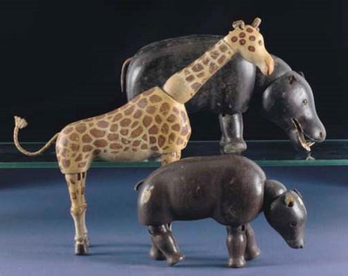 A rare Schoenhut Circus giraff
