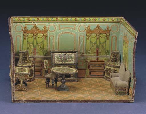 A pine box room setting and fu