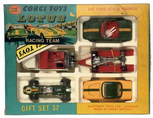 A Corgi Gift Set 37 Lotus Racing Team