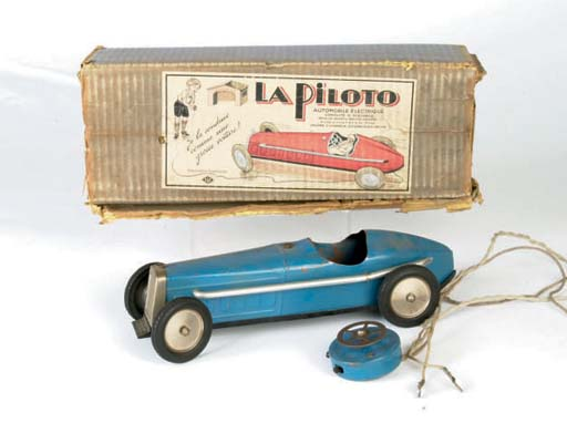 A DAB battery-powered cable remote-operated 'La Piloto' Racing Car