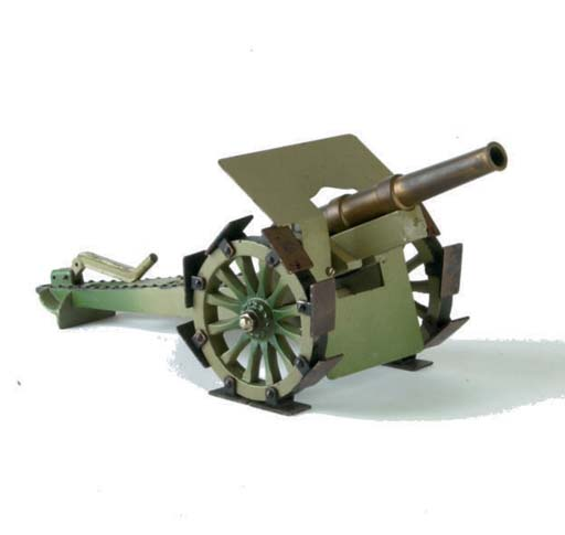 A Märklin cast iron and brass Heavy Field Gun