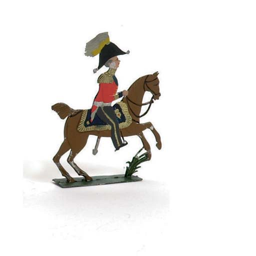 A 'flat' 70mm. Equestrian Figure, probably early Dubois, Hanover
