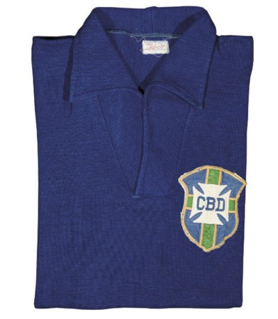 A BLUE BRAZIL SHORT-SLEEVED SH