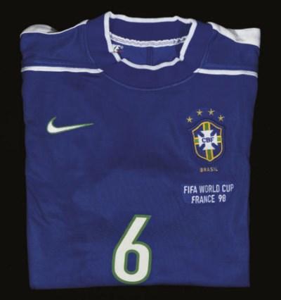 A BLUE BRAZIL SHORT-SLEEVED SH